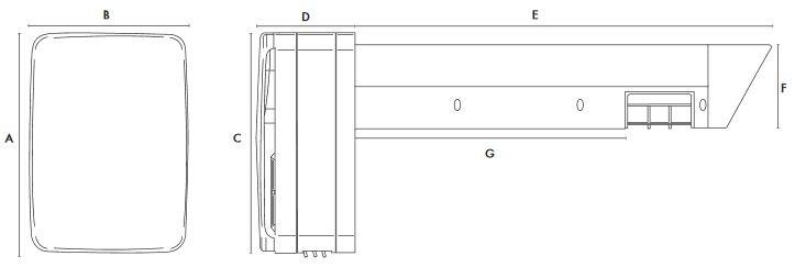 Dimensiuni recuperator de caldura Vent-Axia Lo-Carbon T