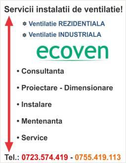 Servicii de instalare sisteme de ventilatie rezidentiale si industriale