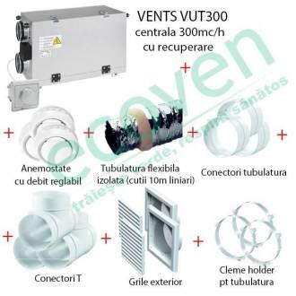 Pachet sistem ventilatie cu recuperare caldura 80 - 150 mp